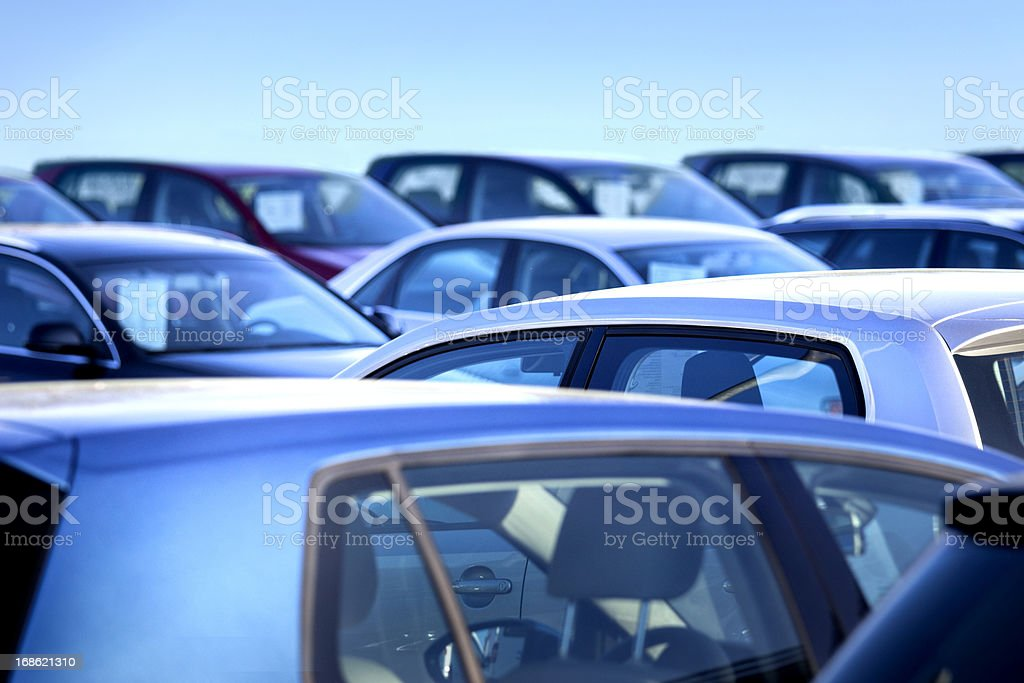 New and used cars stock photo