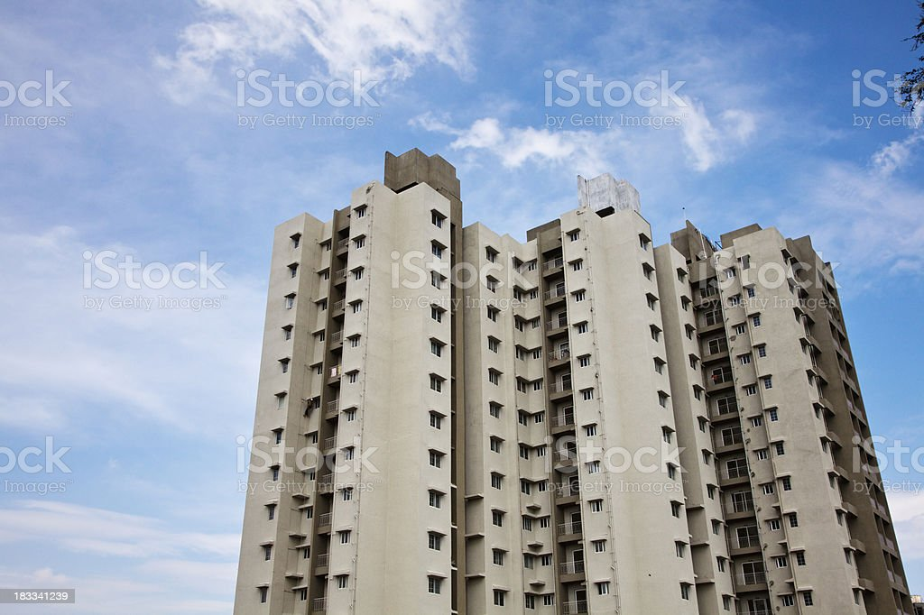 new aparmetn block in India stock photo