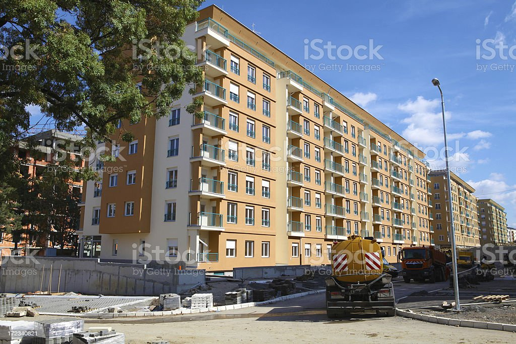 New Apartment block royalty-free stock photo