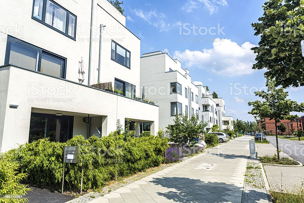 New apartment blocks stock photo