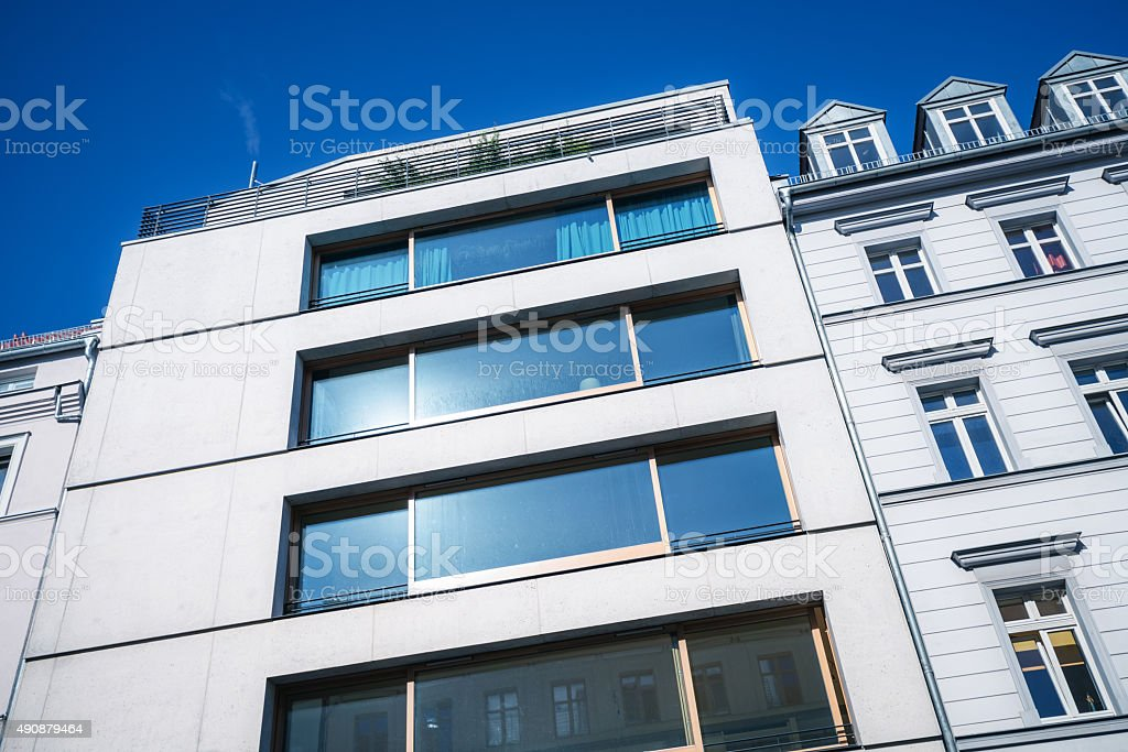 new apartment building in Berlin, Germany stock photo