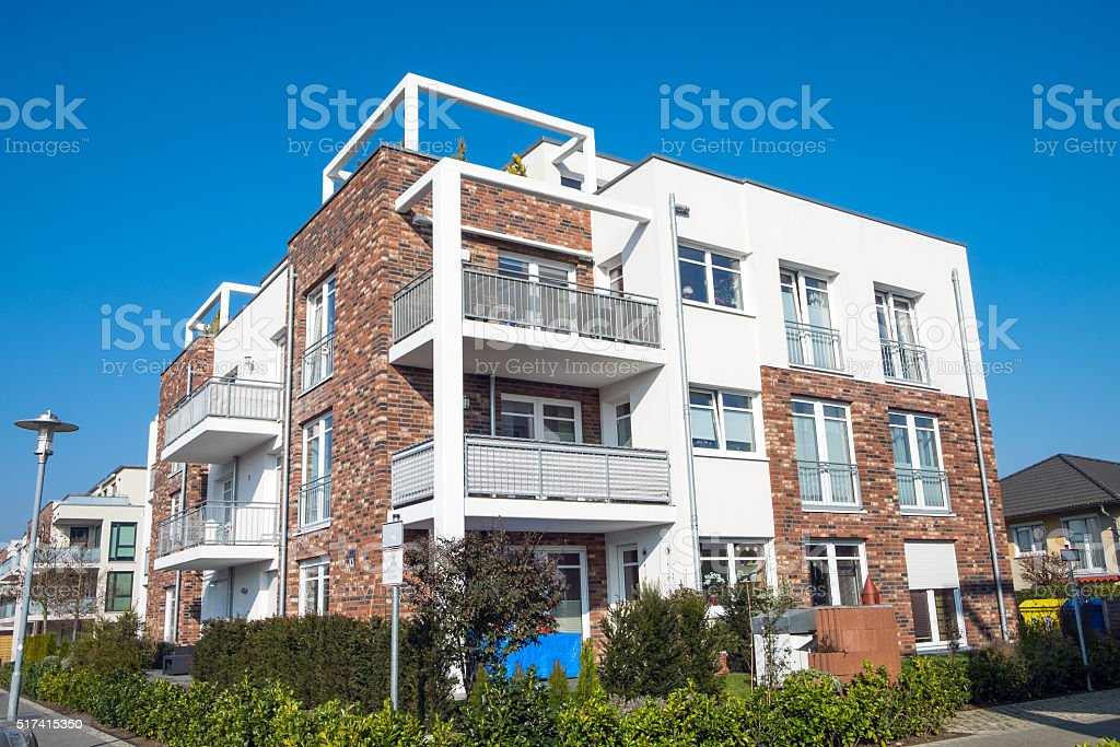 New apartment building in Germany stock photo