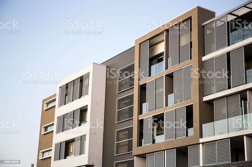 New Apartment Building stock photo