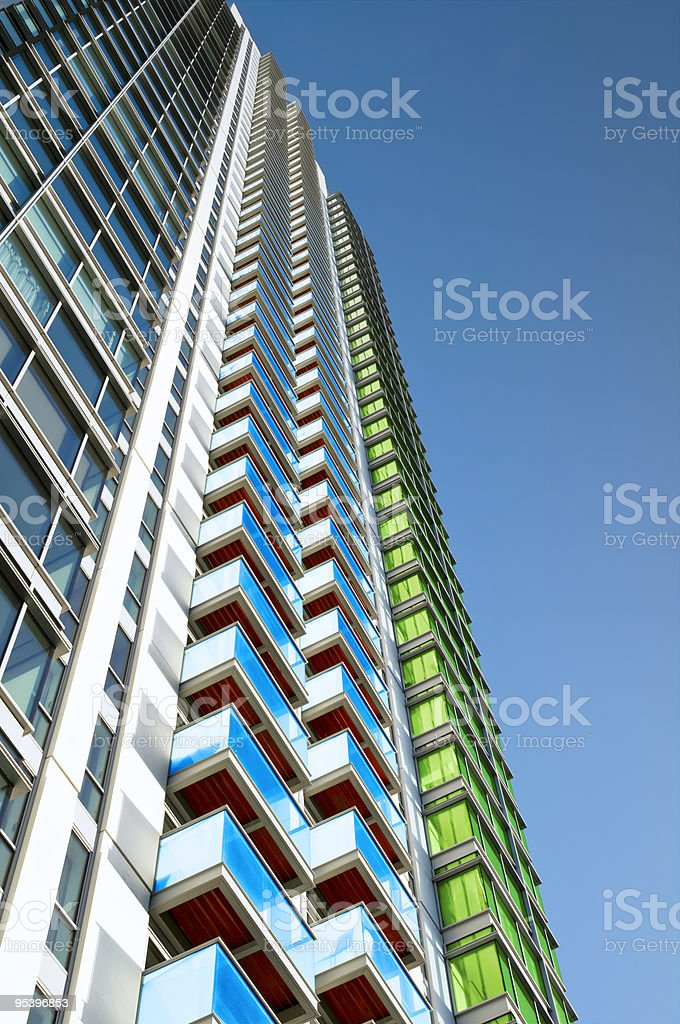 New Apartment Building. royalty-free stock photo