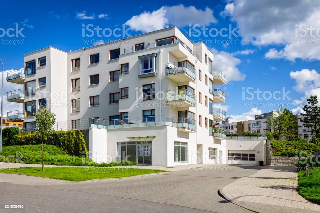 New apartment buildings with underground garage, Gdynia, Poland