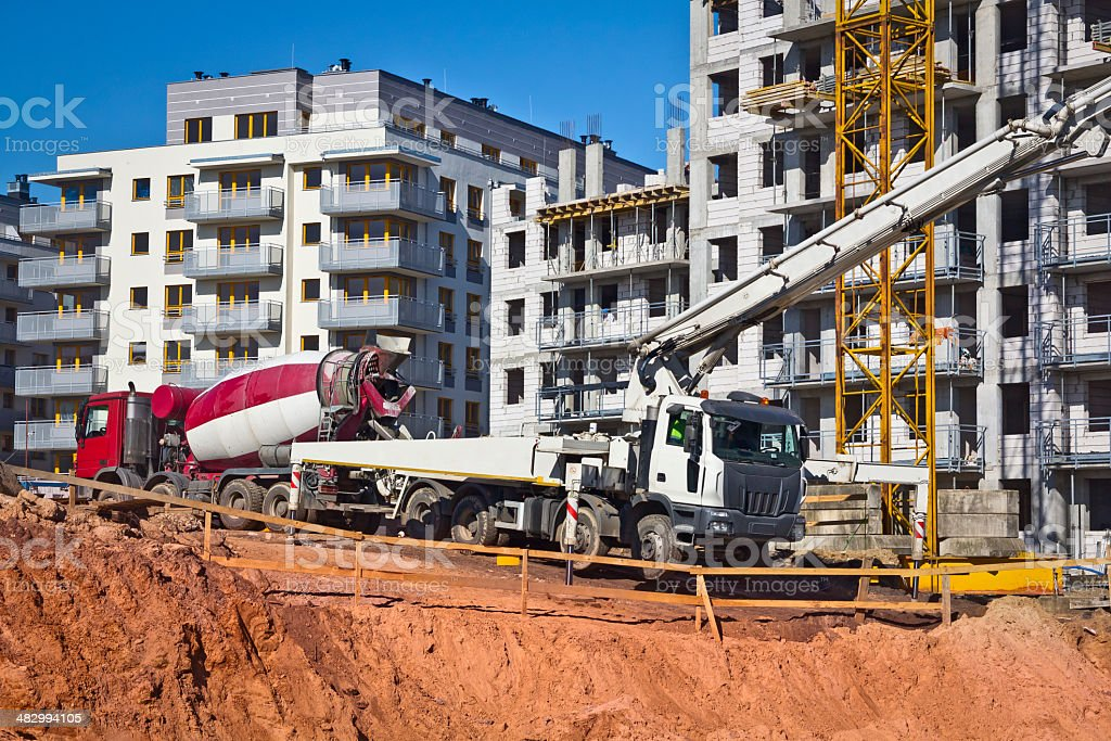 New apartment complex under construction royalty-free stock photo