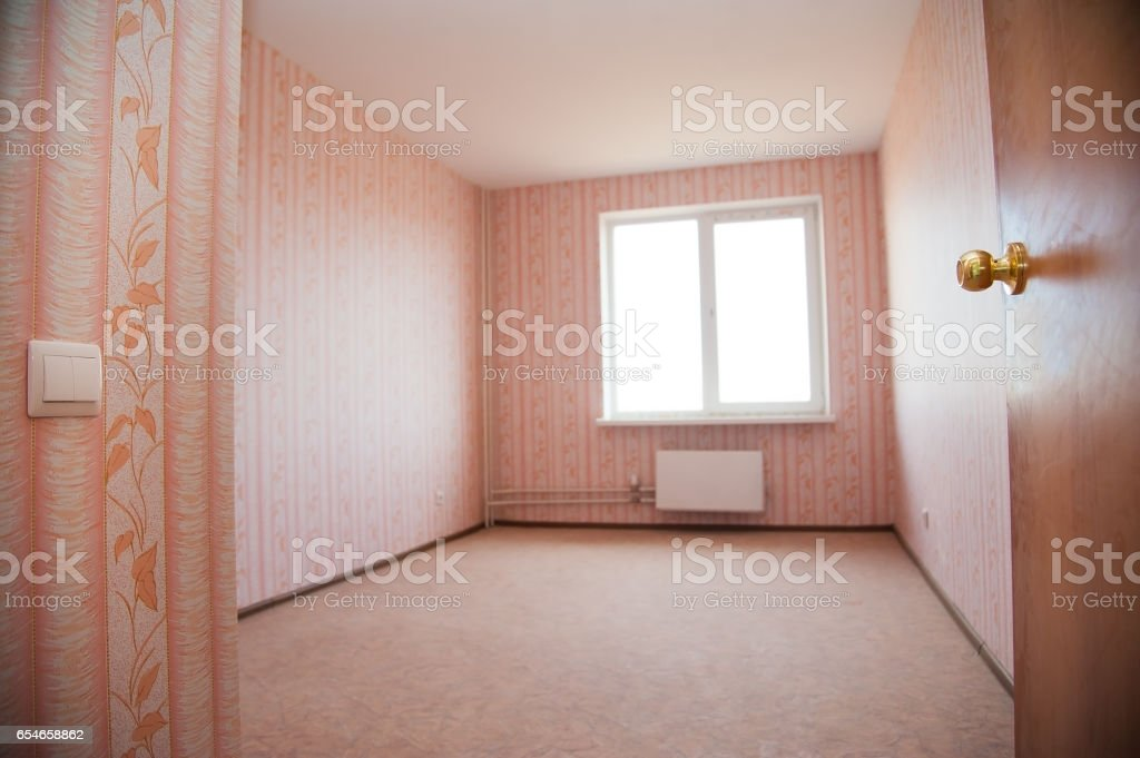 New apartment, empty room stock photo