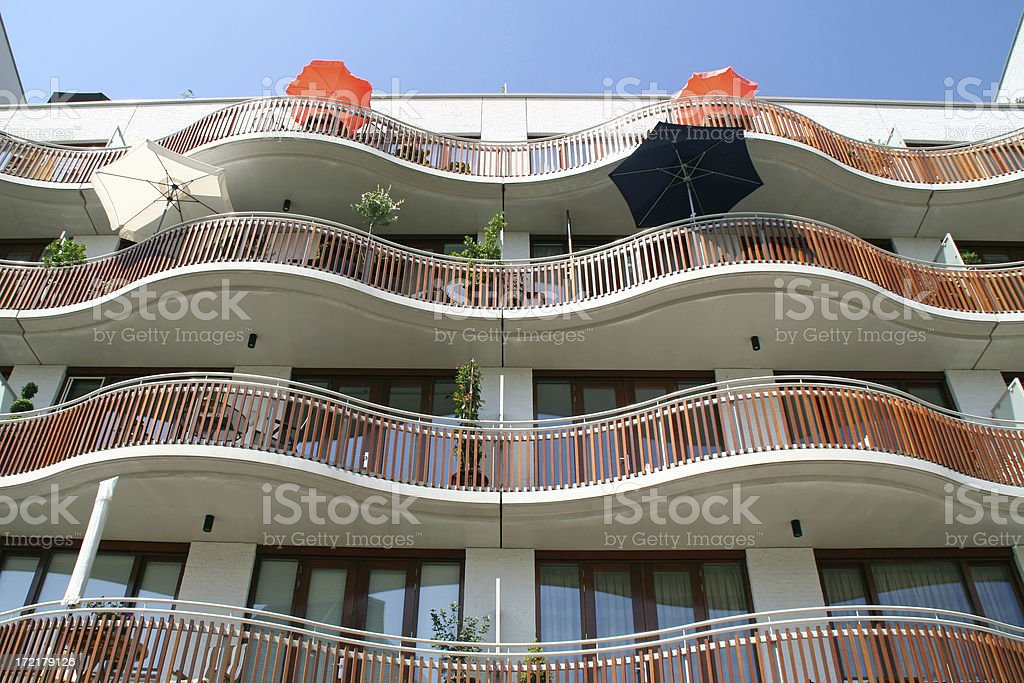New apartments with balconies # 2 stock photo