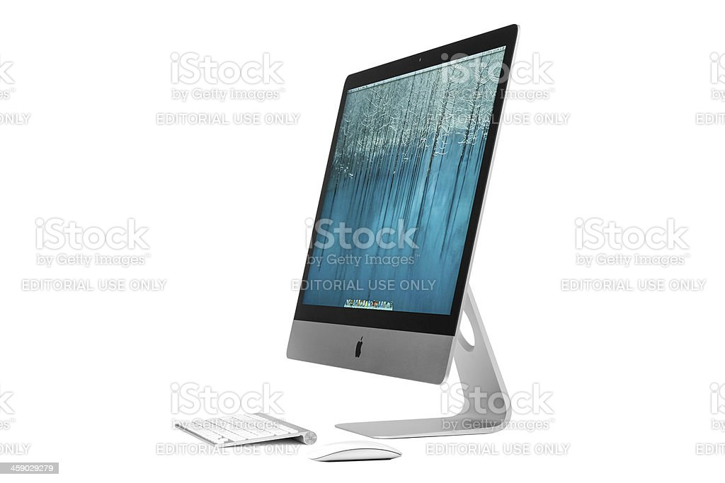 New Apple iMac royalty-free stock photo