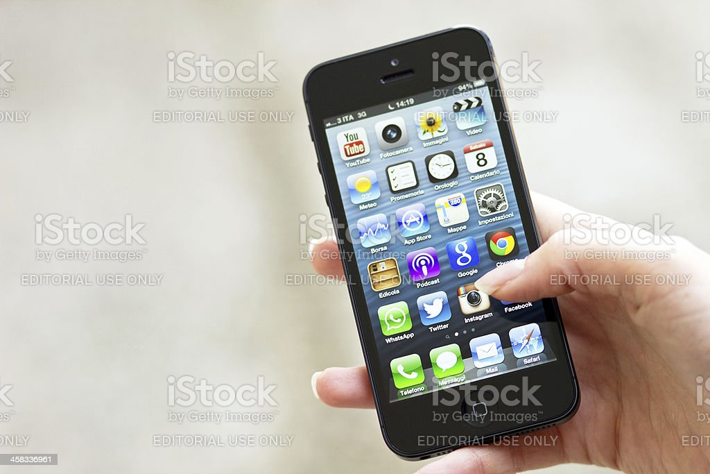 New Apple Iphone 5 royalty-free stock photo