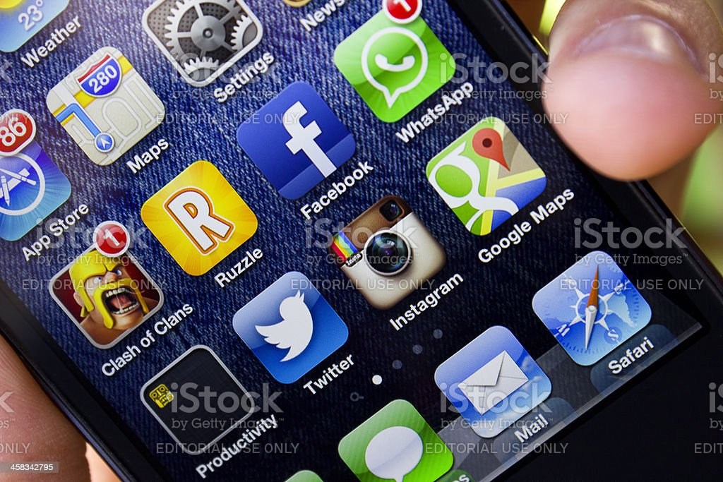New Apple Iphone 5 stock photo