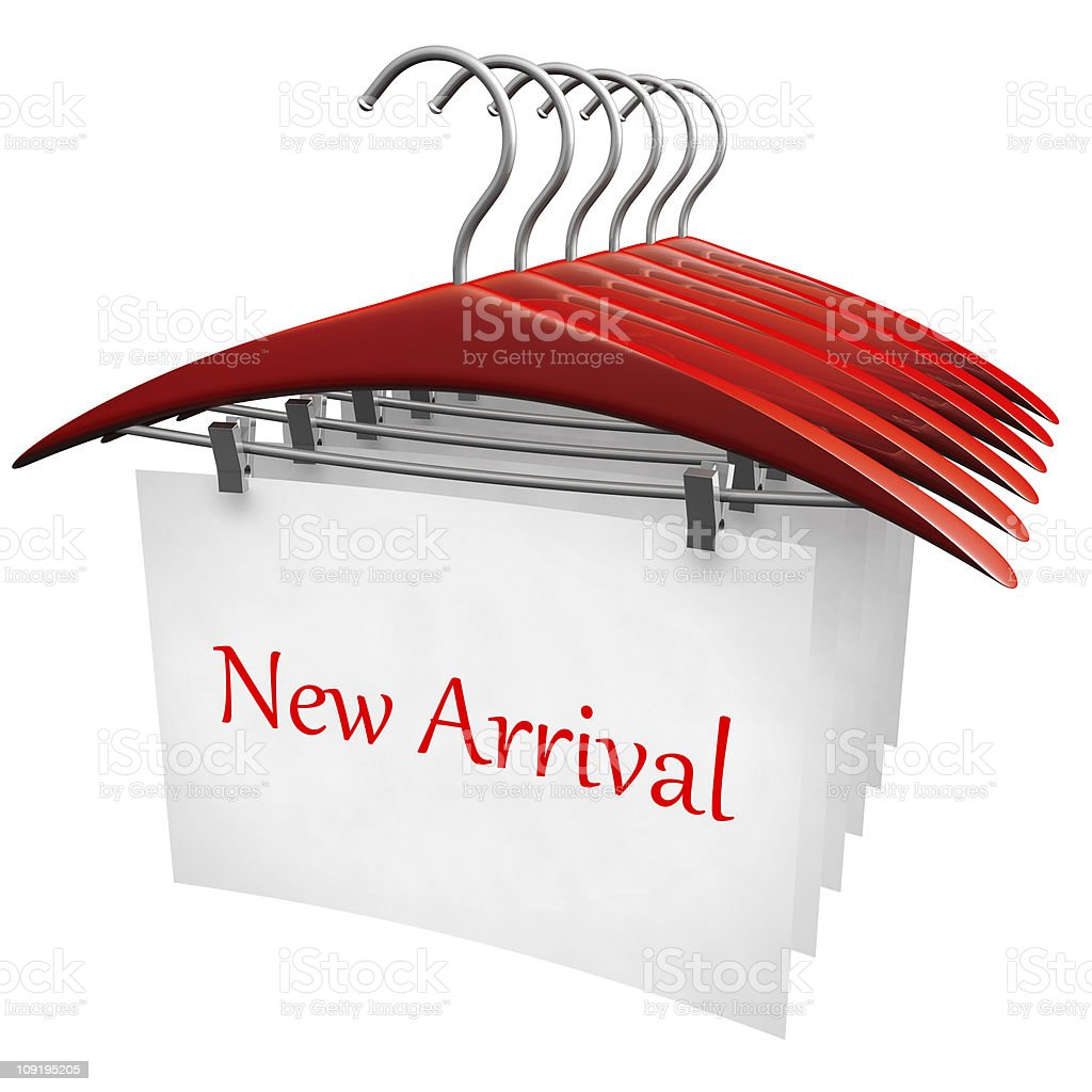 New arrival clothing fashion concept royalty-free stock photo