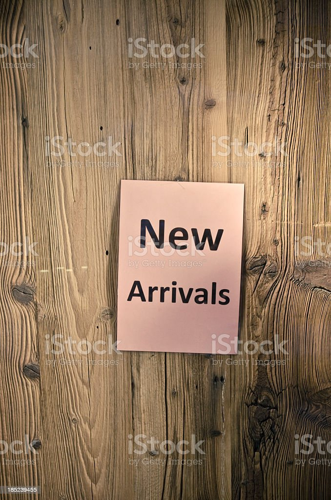 New arrivals royalty-free stock photo