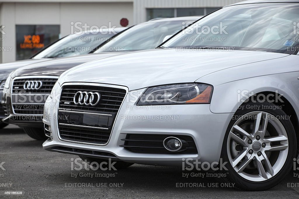 New Audi Vehicles in a Row royalty-free stock photo