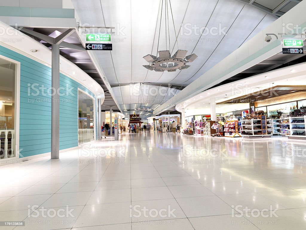 New Bangkok Airport interior stock photo