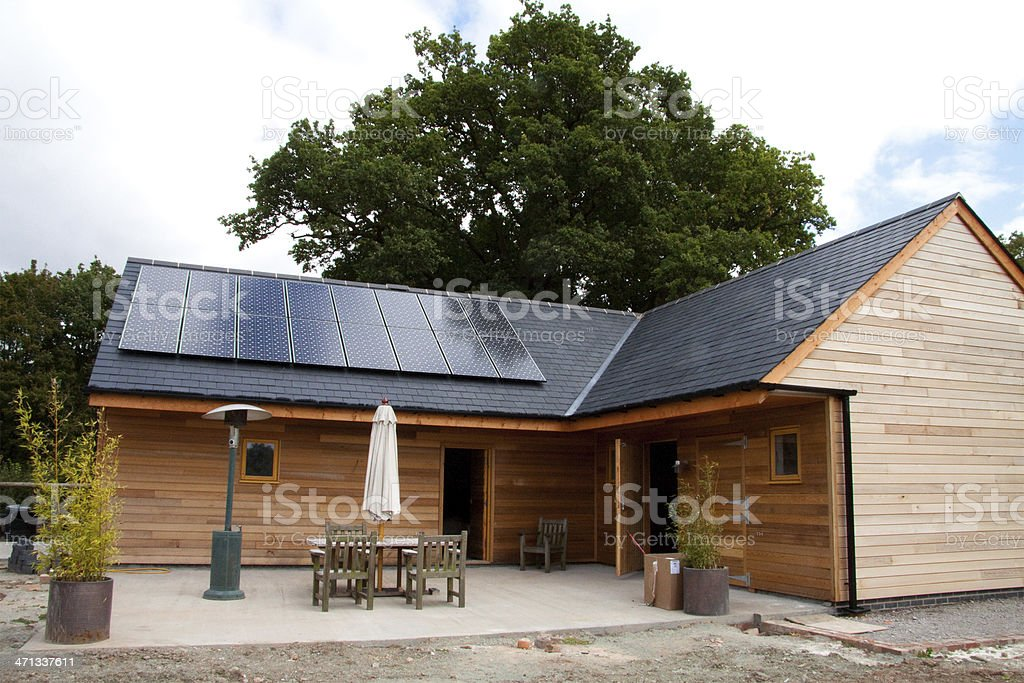 New Barn Conversion stock photo