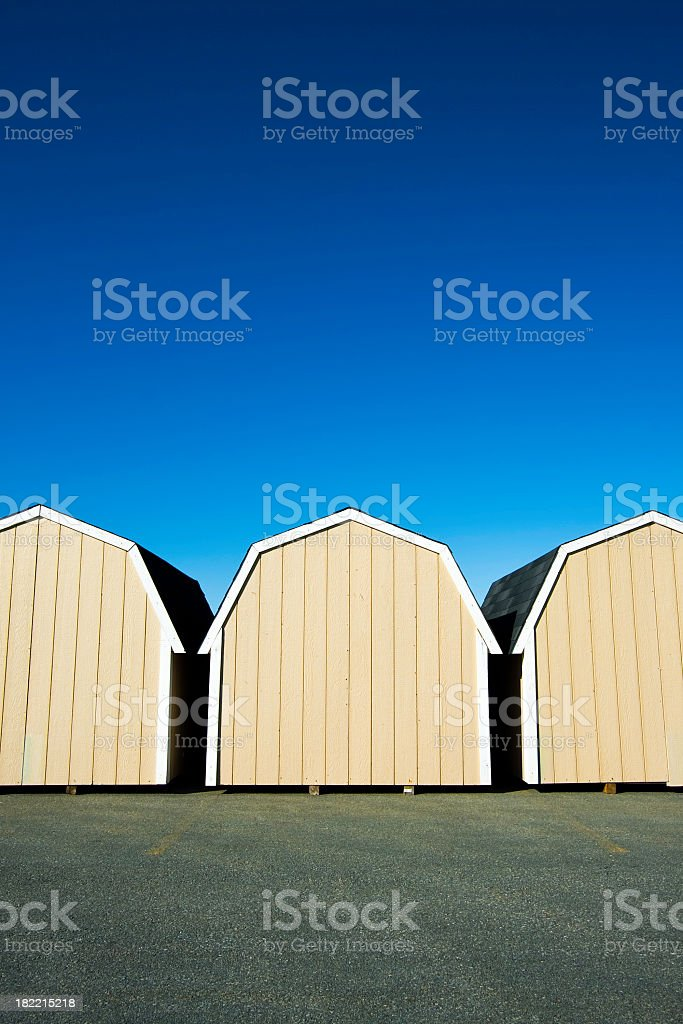New Barns in a Row royalty-free stock photo
