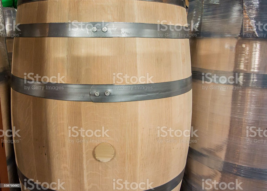 New Barrel with Bung stock photo
