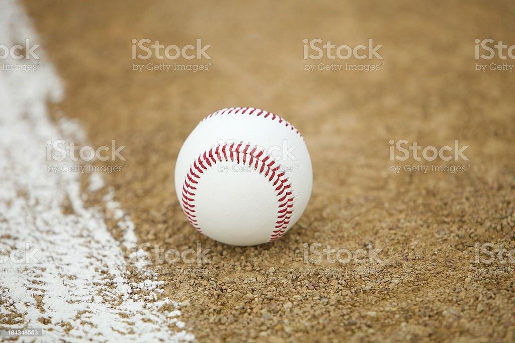 New Baseball inside or outside Foul Line stock photo
