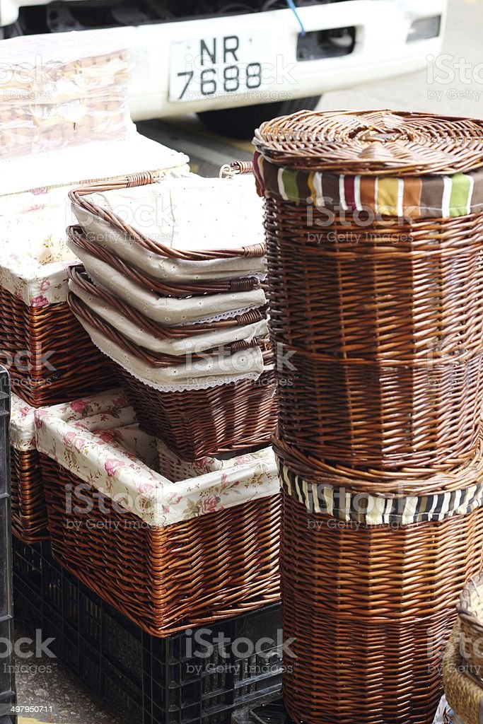 New baskets for sale stock photo