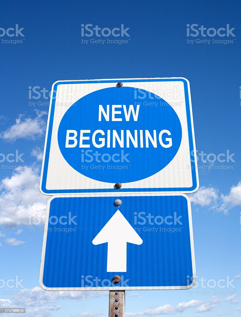 New Beginning sign royalty-free stock photo