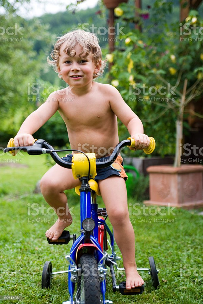 new bike - my first ride in summer royalty-free stock photo