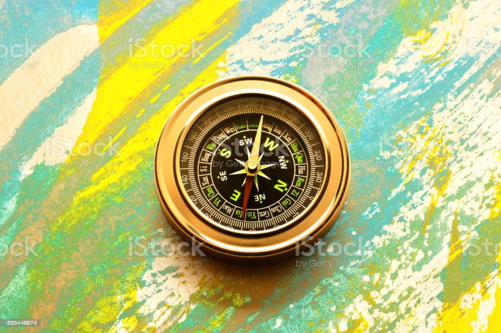 New black compass stock photo