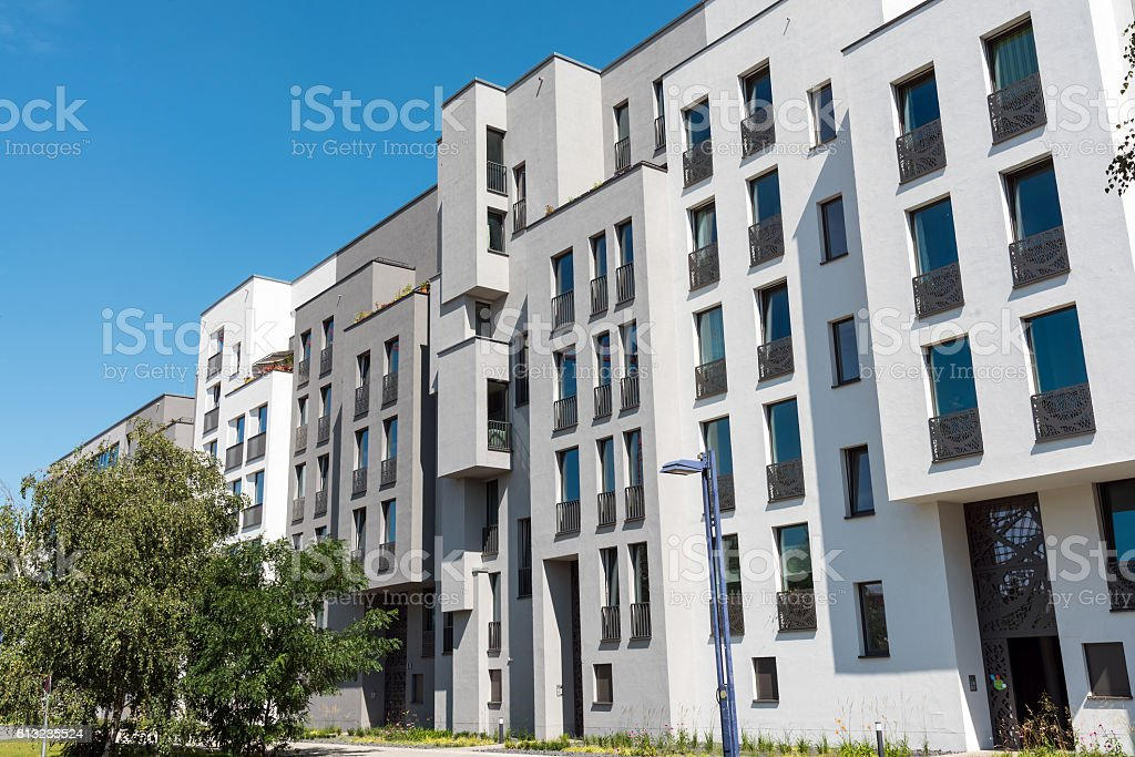 New block of apartments in Berlin stock photo