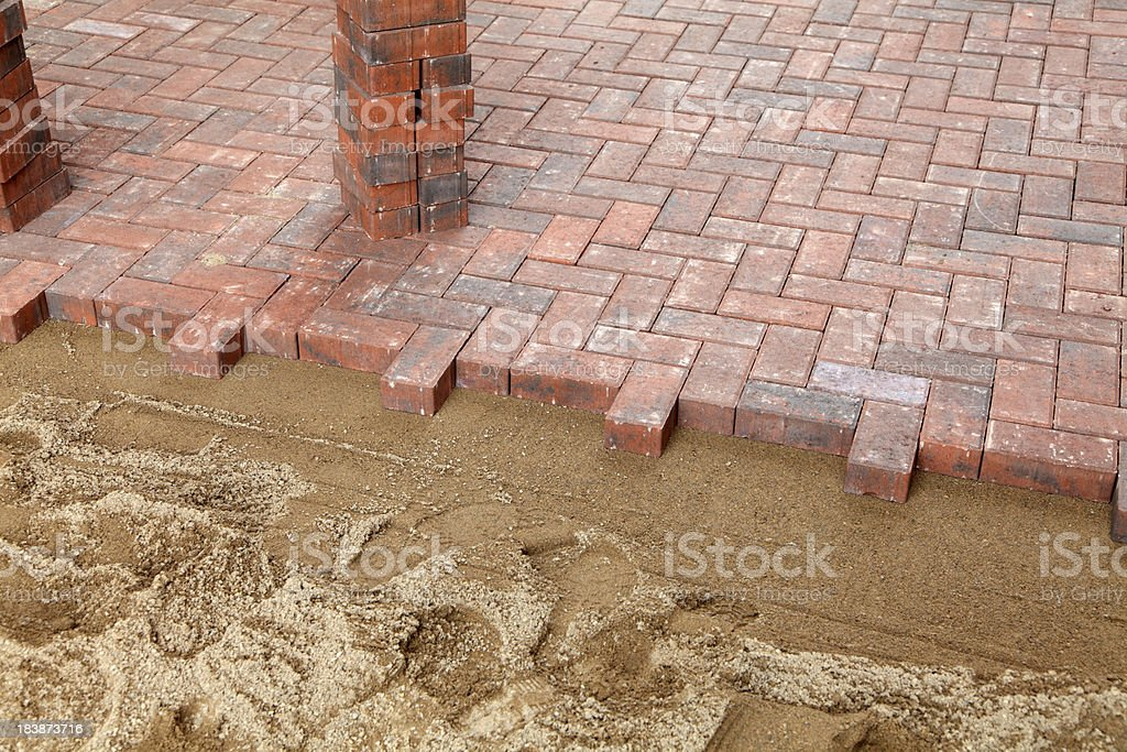 new block paving driveway royalty-free stock photo