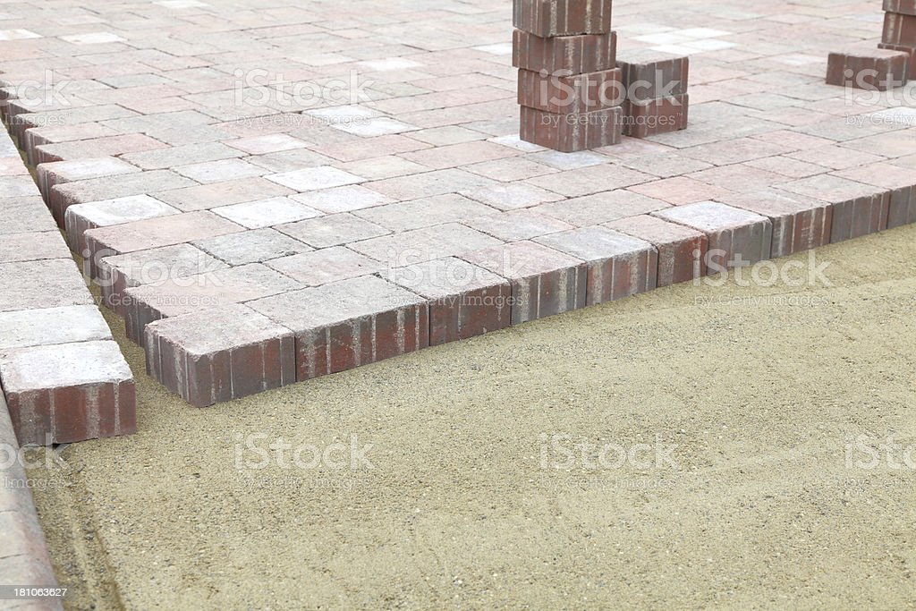 new block paving royalty-free stock photo