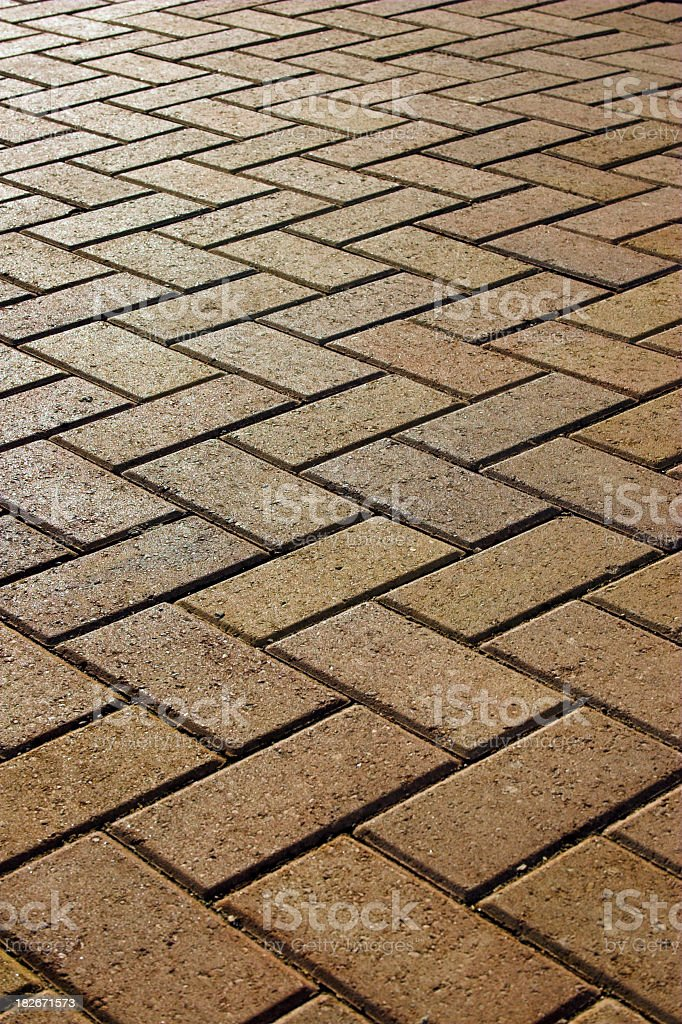 New block paving royalty-free stock photo