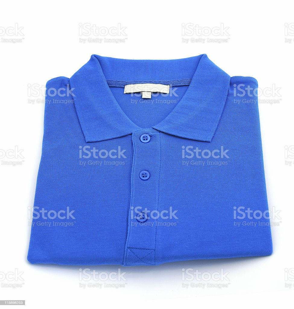 New blue sports shirt stock photo