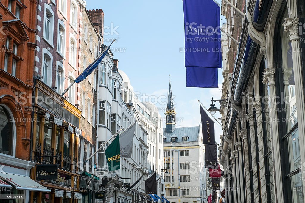 New Bond Street banners stock photo