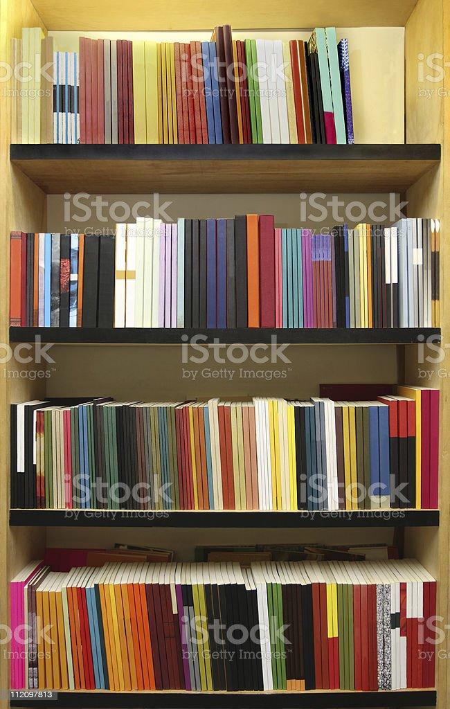 New books - bookshelves royalty-free stock photo