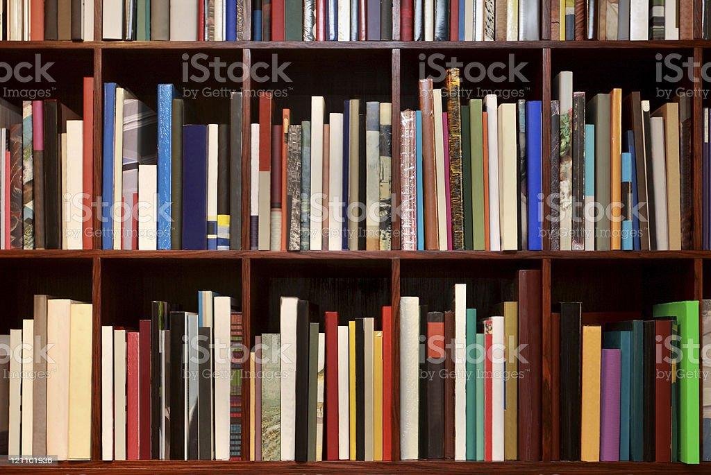 New books on the shelf royalty-free stock photo