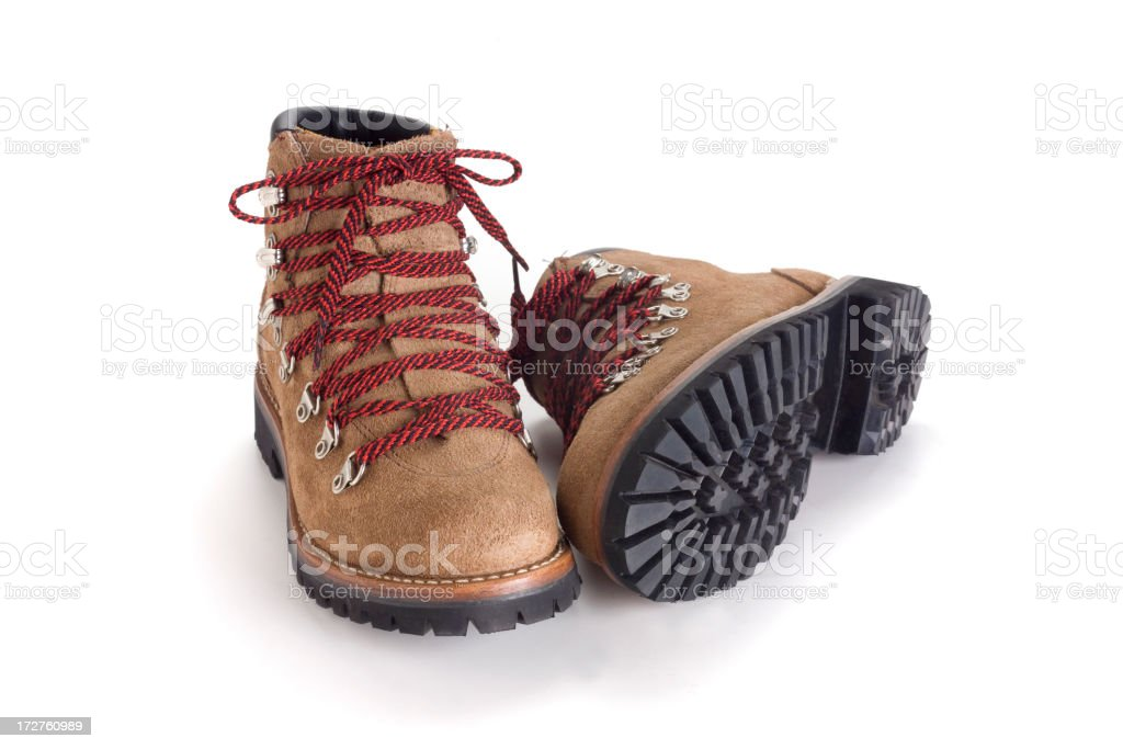new boots on white stock photo