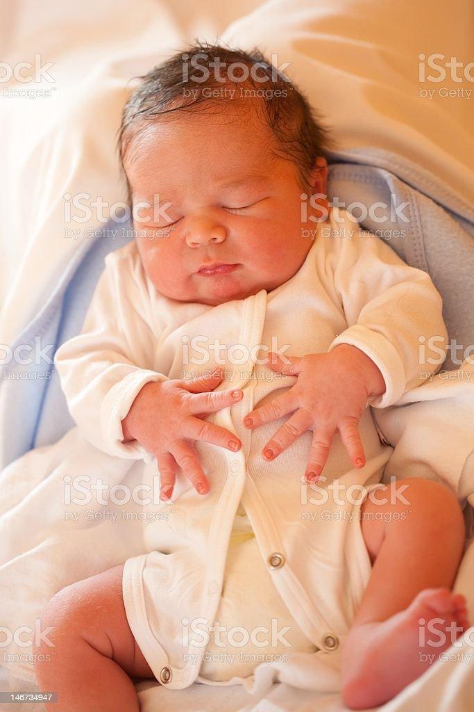 New born baby boy royalty-free stock photo