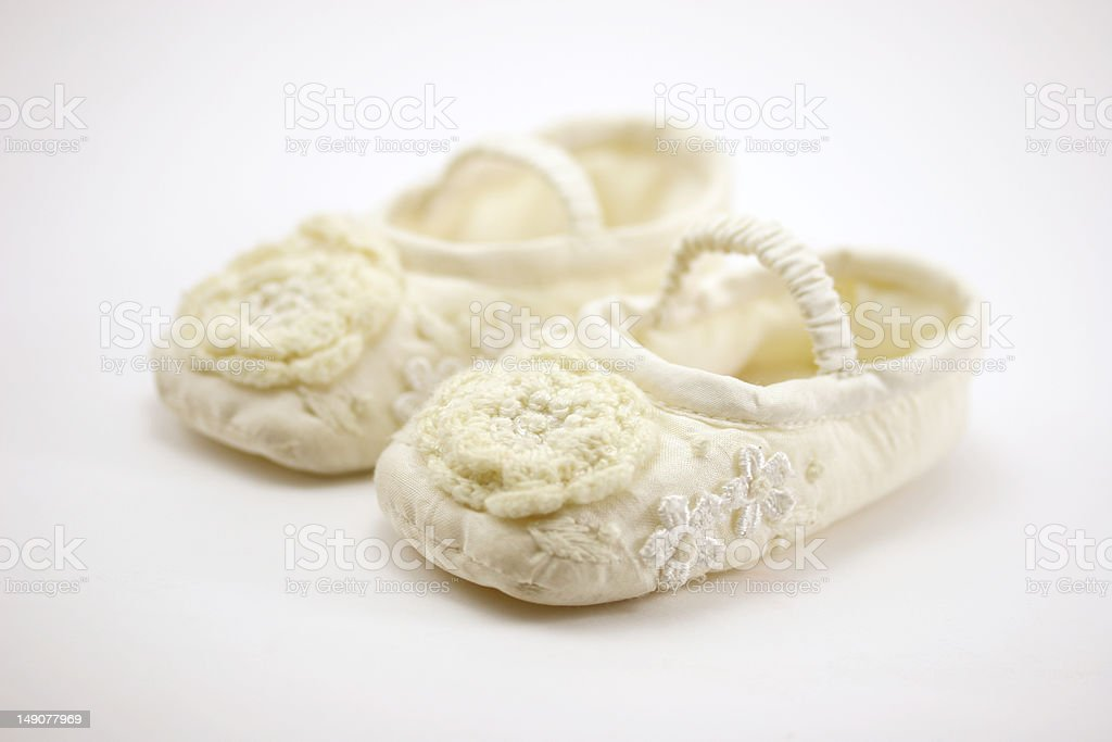 New born baby shoes royalty-free stock photo