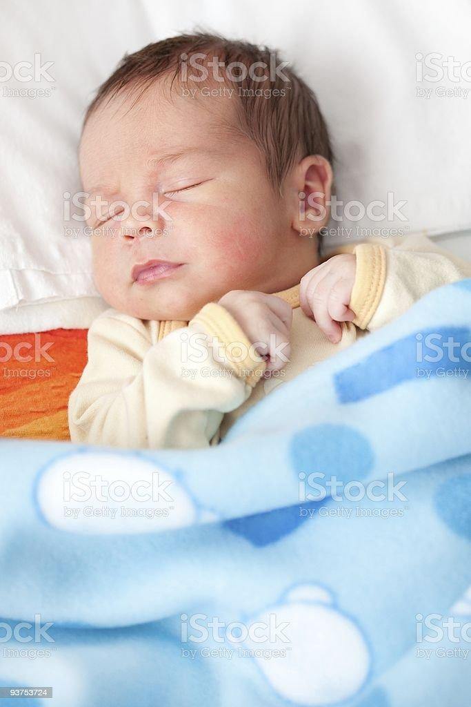 New born baby sleeping royalty-free stock photo