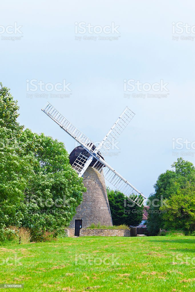 New Bradwell windwill in Milton Keynes stock photo
