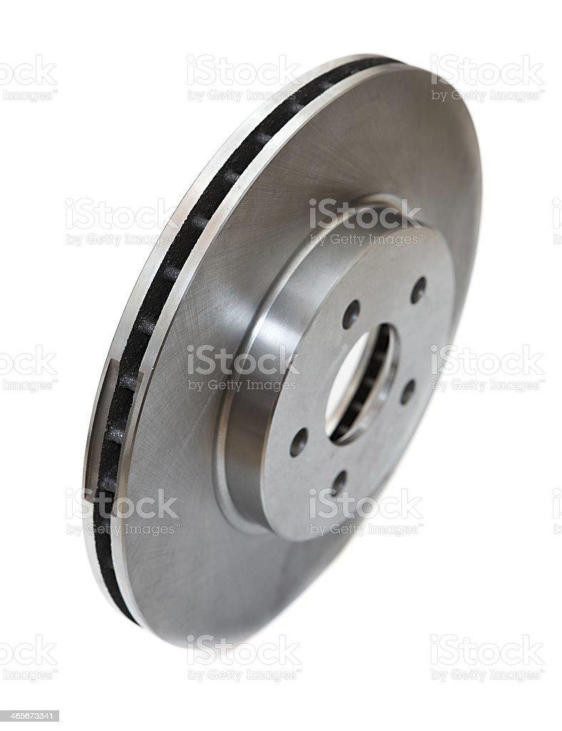 New brake disc isolated on white stock photo