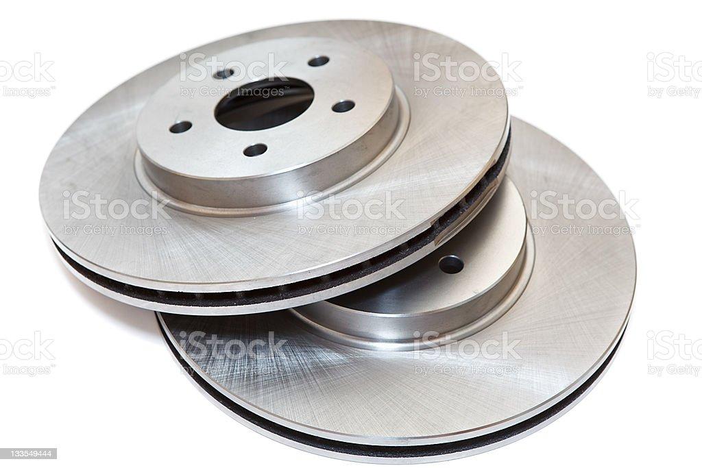New brake discs stock photo