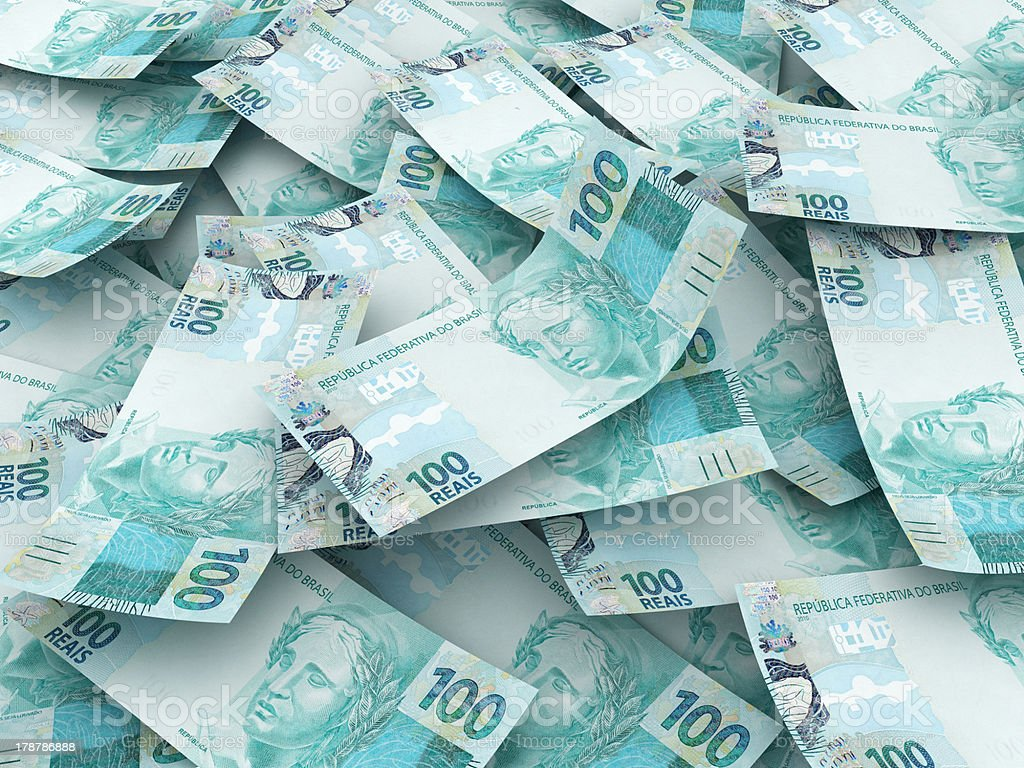 New brazilian currency stock photo