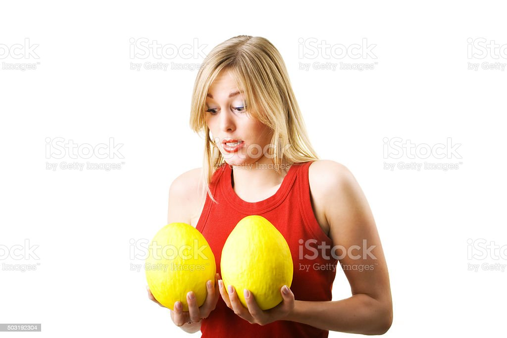 New breast tryout stock photo