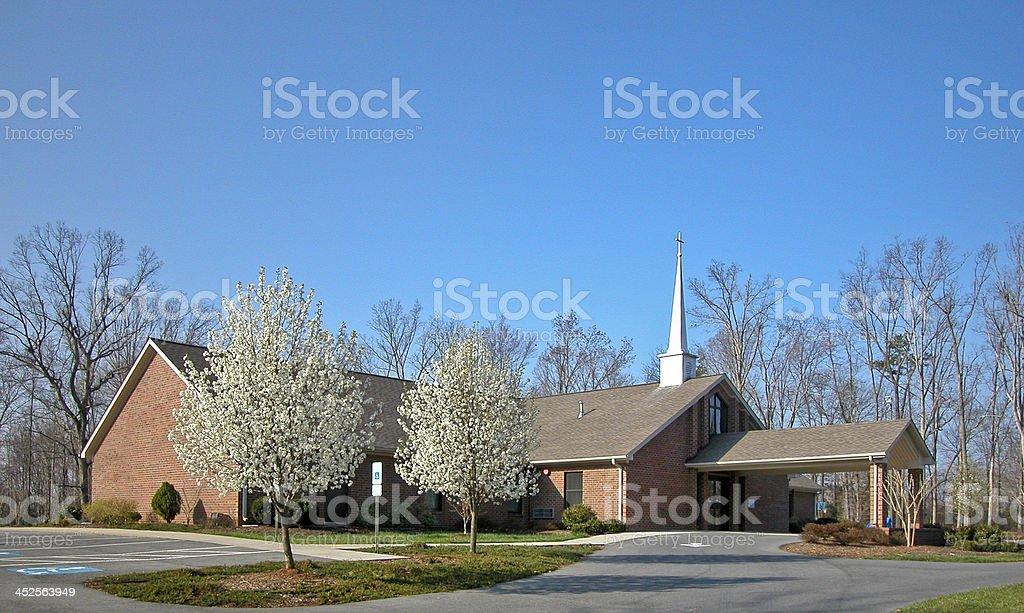 New Brick Church Building stock photo