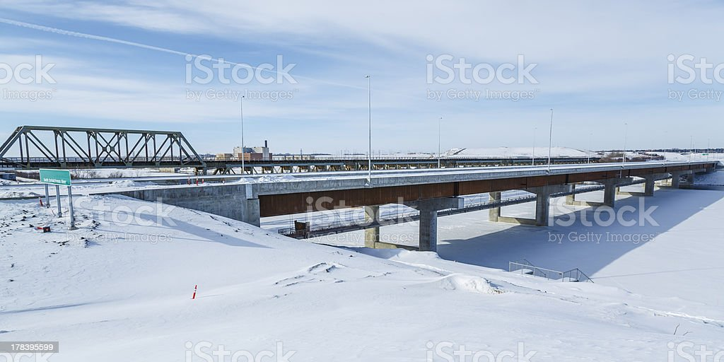 New Bridge Construction royalty-free stock photo