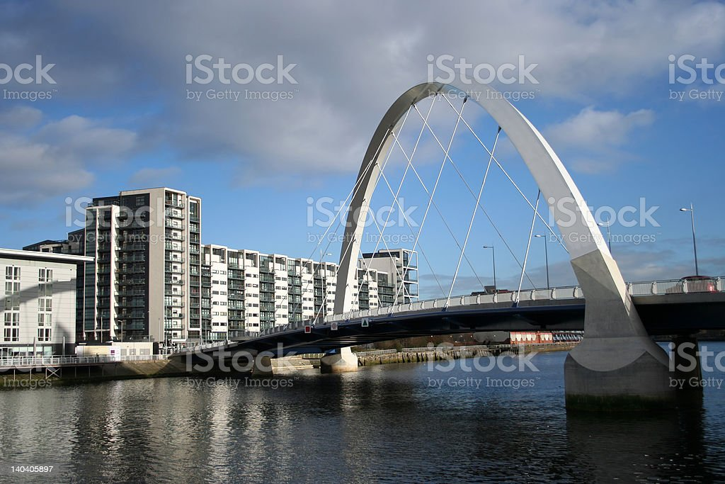 new bridge Glasgow stock photo