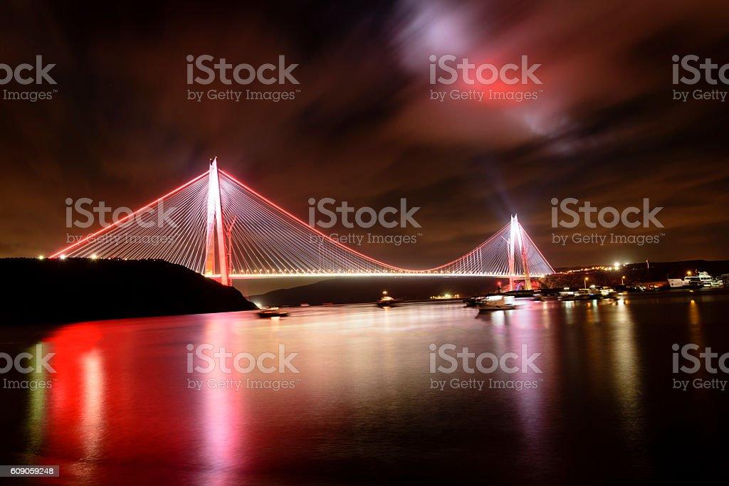 new bridge of Istanbul bosphorus, Yavuz Sultan Selim stock photo