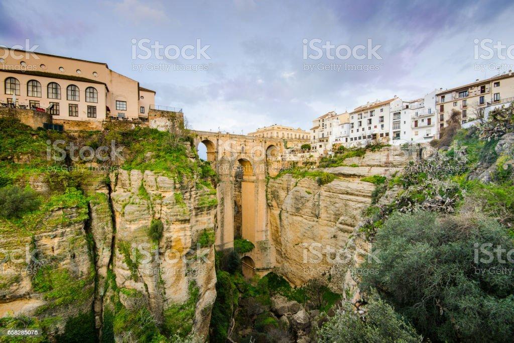 New Bridge or Puente Nuevo in Ronda,Spain stock photo