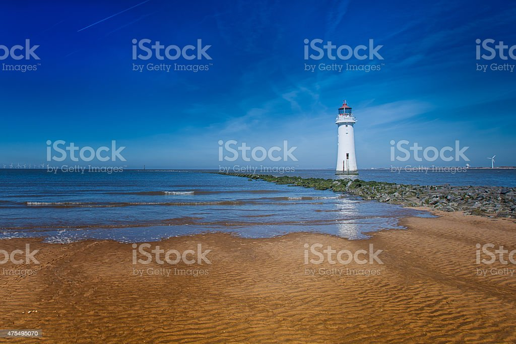 New Brighton Lighthouse stock photo